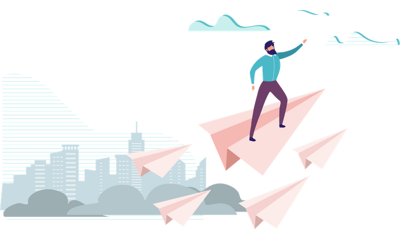 Leadership and Visionary Landing Page Illustration