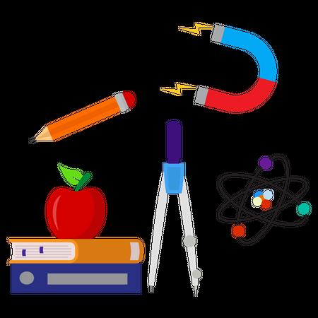 Learn physics Illustration