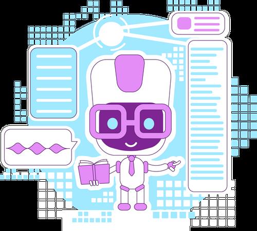 Learning assistant, informational bot Illustration