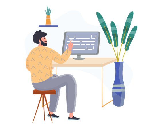 Learning Web Development Illustration