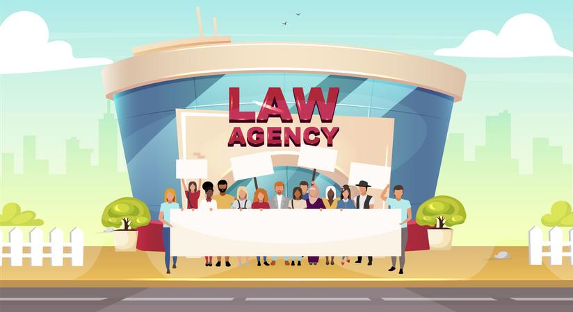 Legal strike Illustration