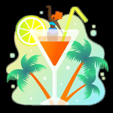 Lemon juice Illustration