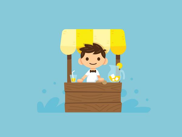 Lemonade boy Illustration