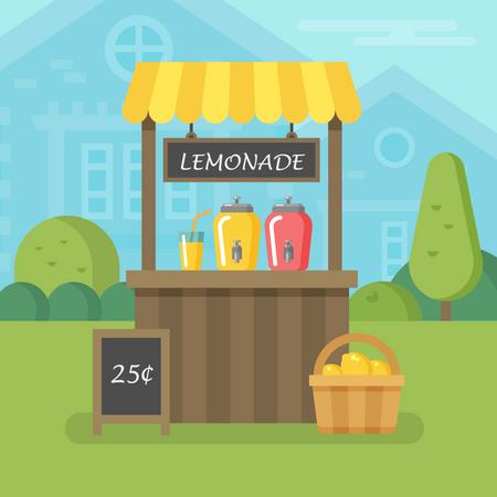 Lemonade stand Illustration