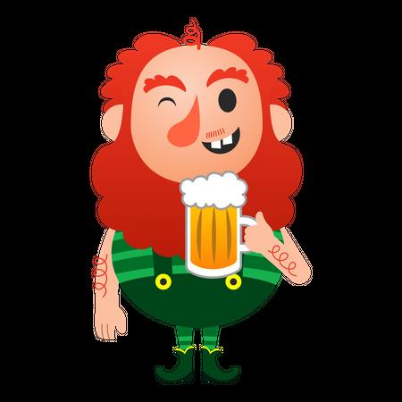 Leprechaun Character Illustration