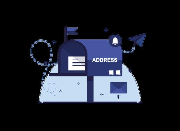 Letter in Mail Box Illustration