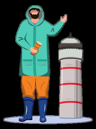 Lighthouse Keeper Illustration