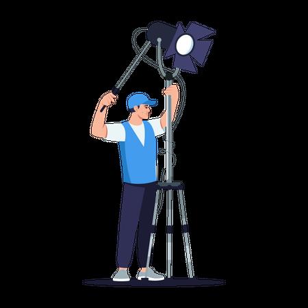 Lightning technician Illustration