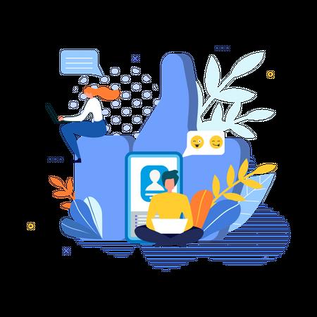 Like feed Illustration