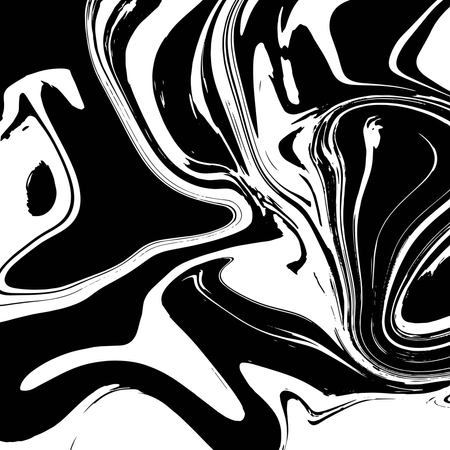 Liquid marble texture design, colorful marbling surface, black and white, vibrant abstract paint design Illustration