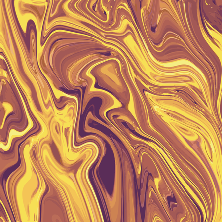 Liquid marble texture design, colorful marbling surface, golden lines, vibrant abstract paint design Illustration