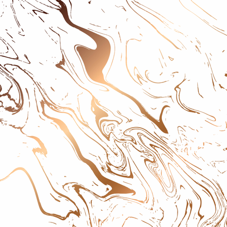 Liquid marble texture design, colorful marbling surface, white and gold, vibrant abstract paint design Illustration