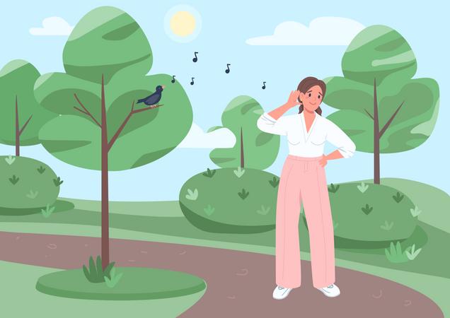 Listen to songbird Illustration
