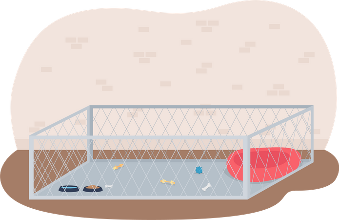 Litter for puppies Illustration