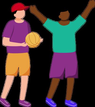 Little children playing together Illustration