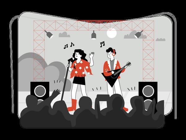 Live concert Illustration