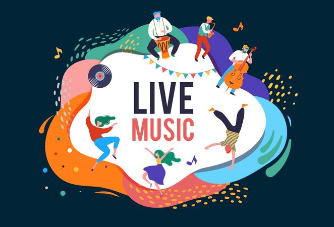 Live music concert Illustration
