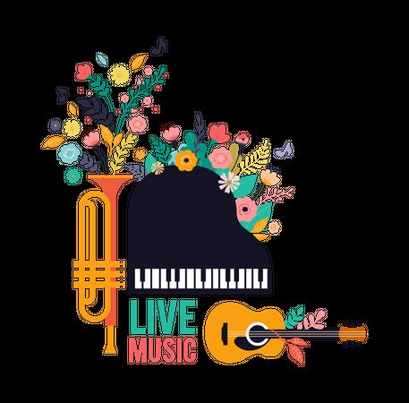 Live Music Festival Illustration