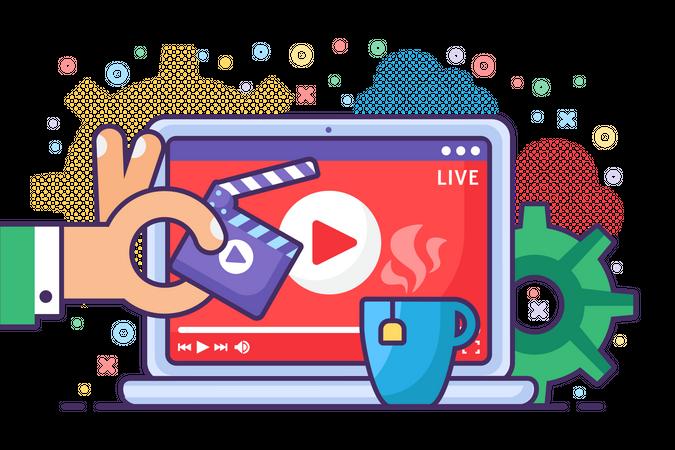 Live stream Illustration