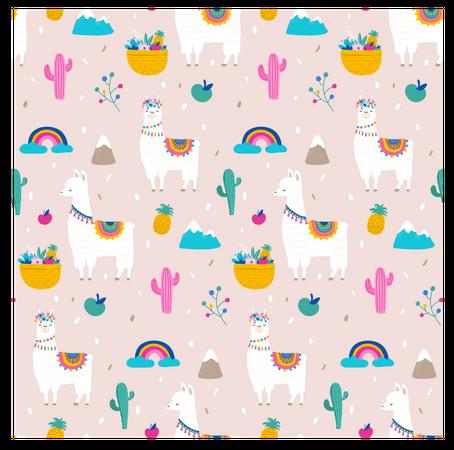Llama background Illustration