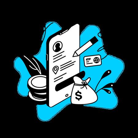 Loan registration Illustration