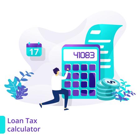 Loan Tax calculator Illustration