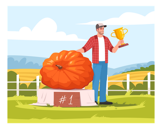 Local harvest festival competition Illustration