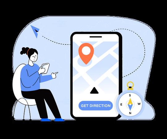 Location Finder App Illustration