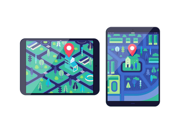 Location finding application Illustration