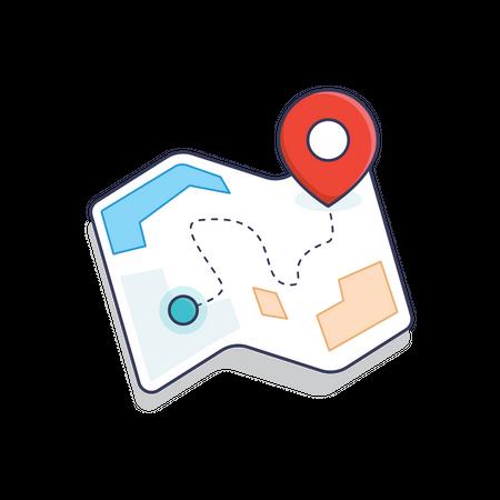 Location Map Illustration