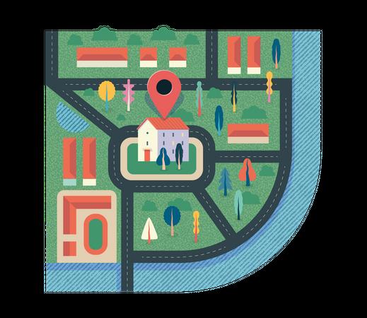 Location pin Illustration