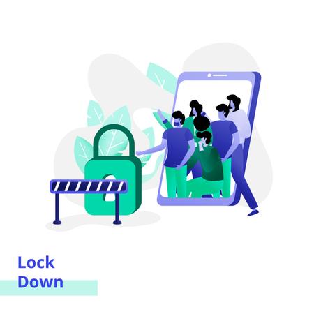 Lockdown Place Illustration