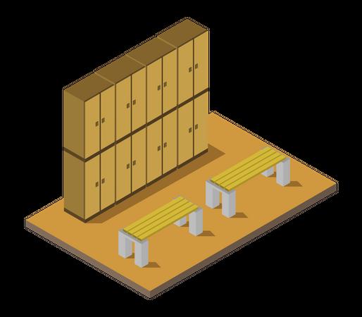 Locker room Illustration