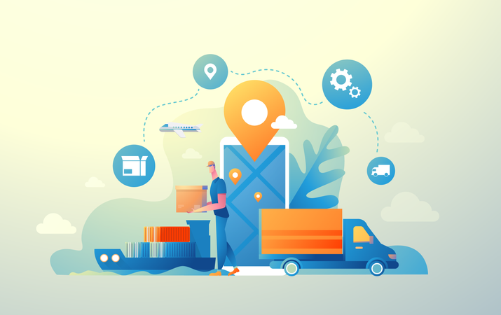 Logistic delivery Illustration