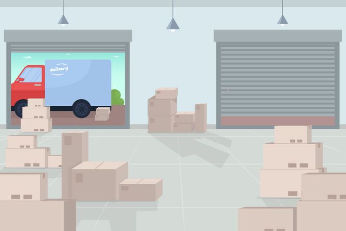 Logistic warehouse Illustration