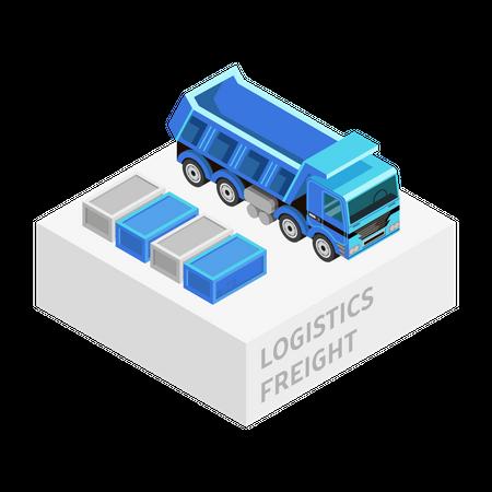 Logistics truck Illustration