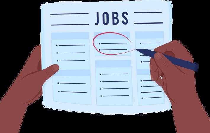 Looking for job Illustration