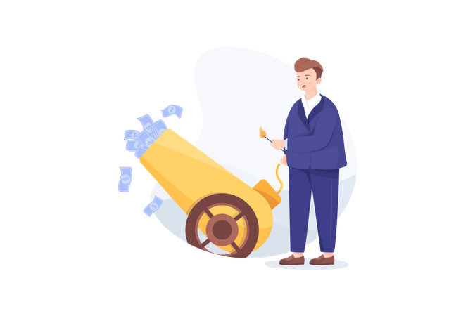 Loosing Investment concept Illustration