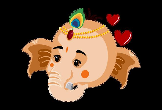Lord ganesha face Illustration