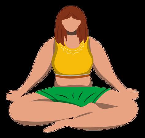 Lotus pose Illustration