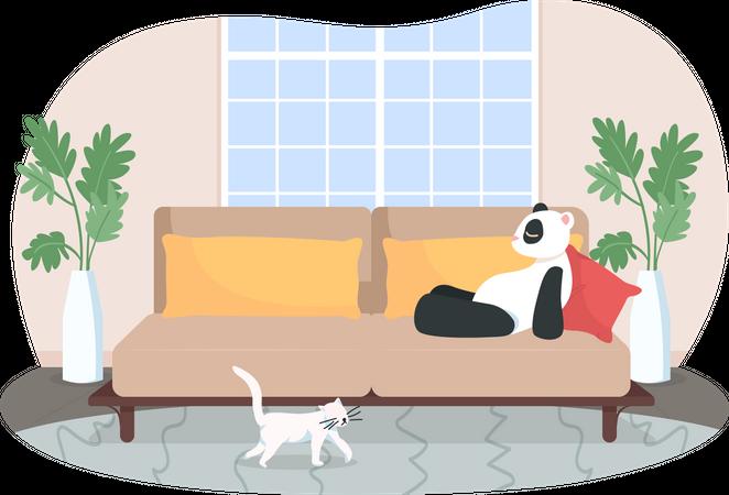 Lounge room Illustration