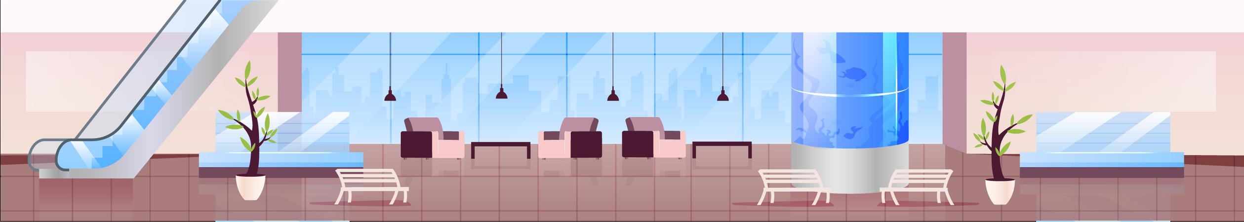 Lounge zone Illustration