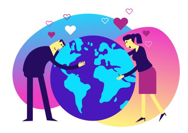 Love earth Illustration