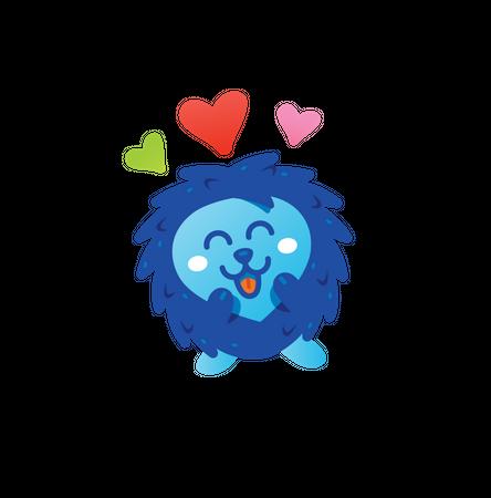 Love Hedgehog Illustration