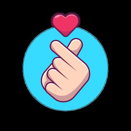 Love you gesture Illustration