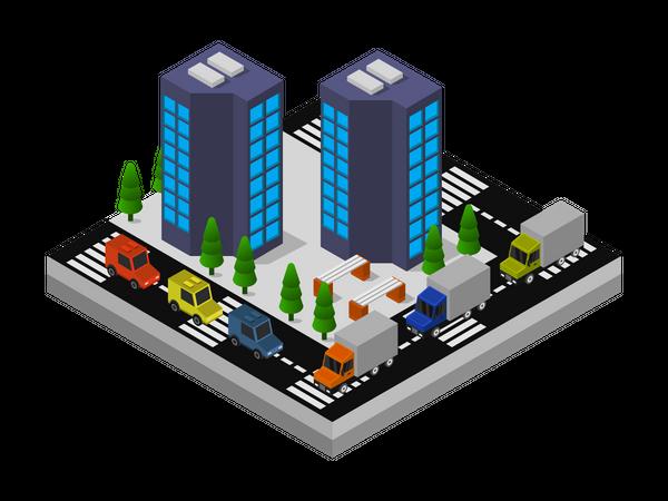 Low-rise building Illustration