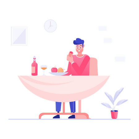Lunch Time Illustration