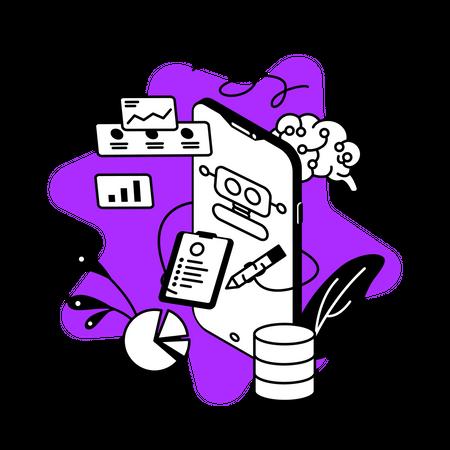 Machine learning App Illustration