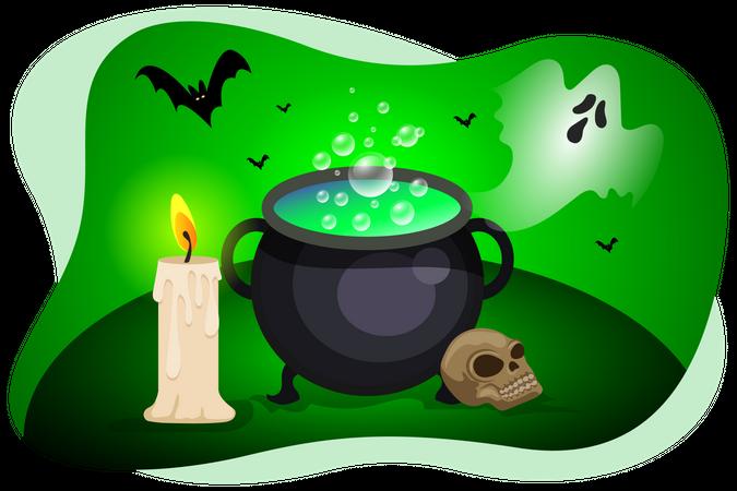 Magic pot Illustration