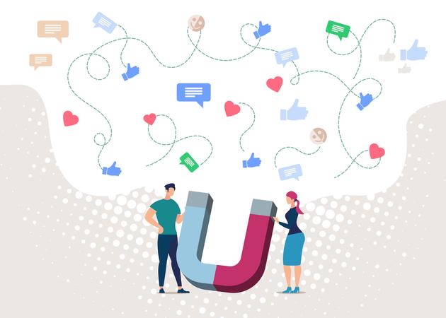 Magnetic Marketing Strategy Illustration